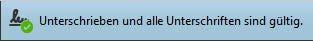 Fehlermeldung Unterschrift gültig©signotec GmbH