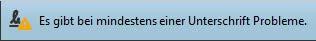 Fehlermeldung Unterschrift Problem©signotec GmbH