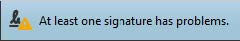 Warning Signature Problem © signotec GmbH