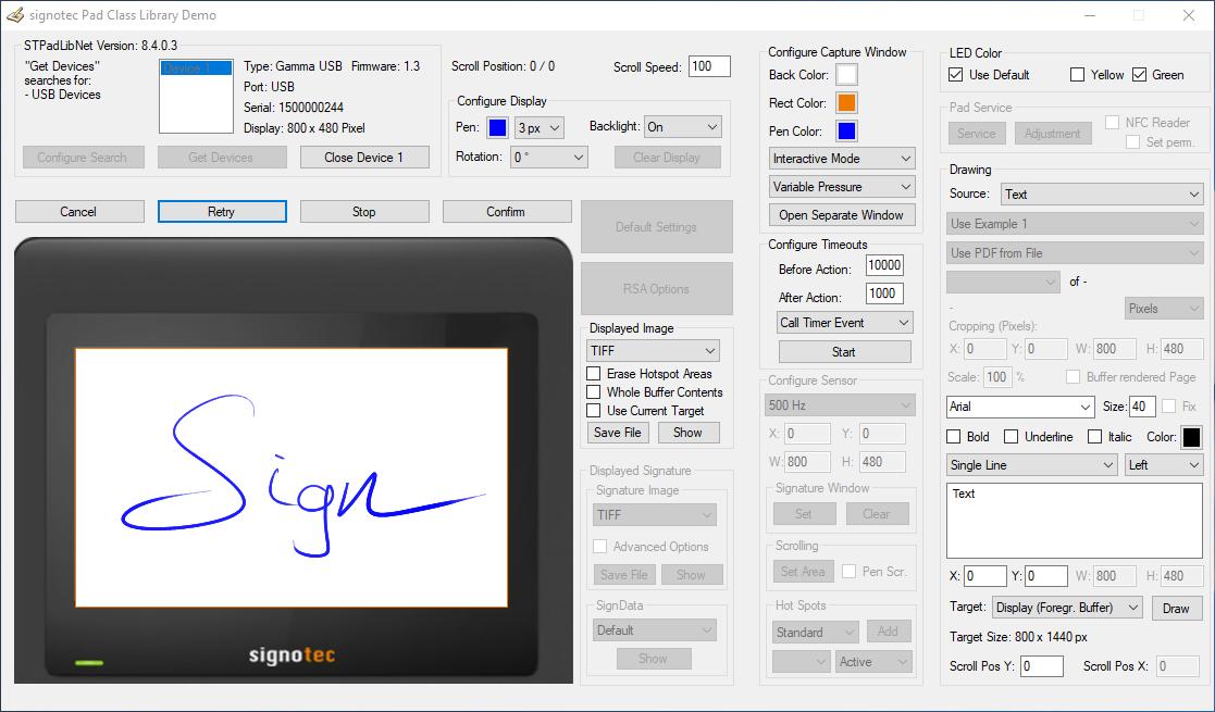 Podpisne tablice API/SDK za razvijalce Podpisne tablice