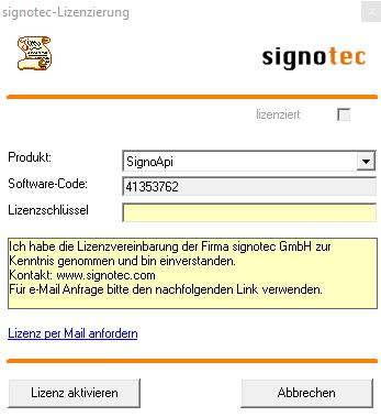 Software_Aktivierung_Screenshot_1©signotec GmbH