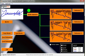 biometric signature verification © signotec GmbH