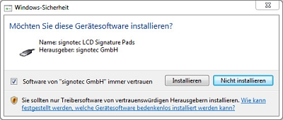 FAQ_Screenshot_WinUSB_Installation_DE © signotec GmbH