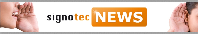 Newsletter Header © signotec GmbH