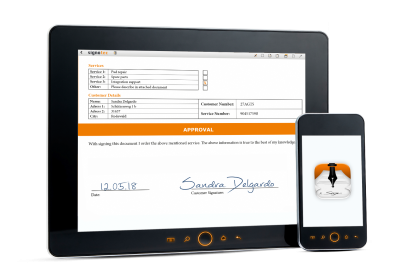 Tablet_Phone_sSU © signotec GmbH